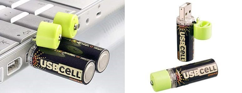 Pila recargable con USB promete 500 recargas