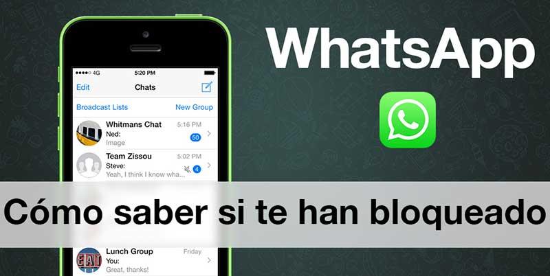 Cómo saber si te bloquean en WhatsApp