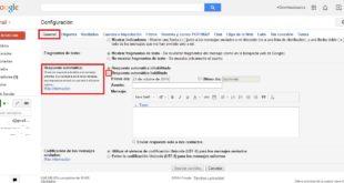 Crear una respuesta automática en Gmail. 1