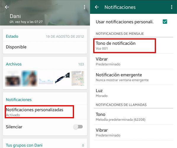 no suenan notificaciones whatsapp