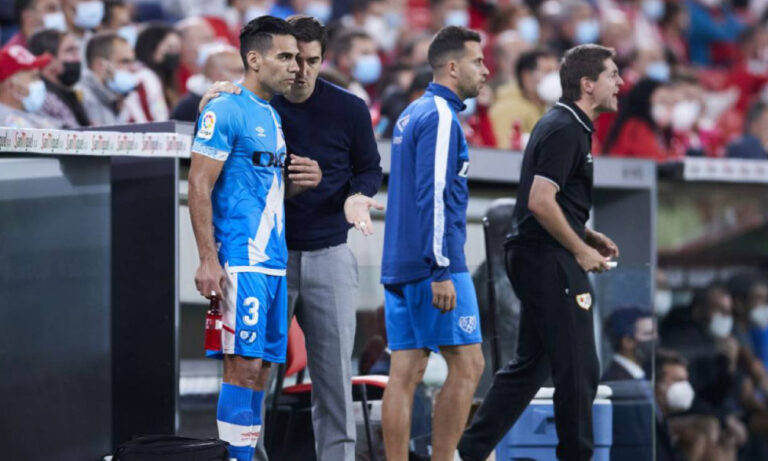 Iraola sorprendido con Falcao: «No lleva ni una semana con nosotros»